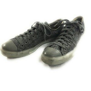 Converse All Star Mens Black Gray Low Top Sneakers